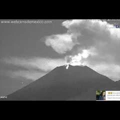 Fumarolas, magma y tremores volcanicos del Popocatepetl hoy 3 de Noviembre del 2017