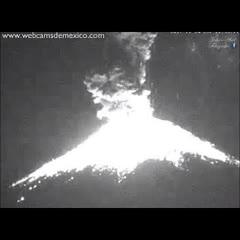 Erupción Popocatepetl 22:52pm   24 Noviembre 2017