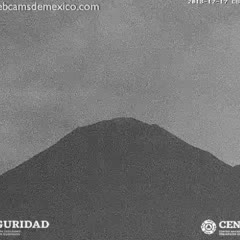 El Volcán Popocatépetl en vivo visto desde San Nicolás de los Ranchos