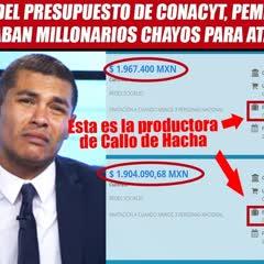 Del Conacyt, Peña pagó millonarios chayos a youtubers antiAMLO (Callo de Hacha)