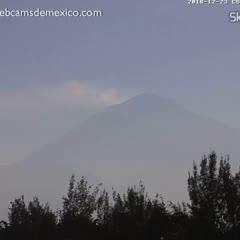 Volcán Popocatépetl visto desde Amecameca en vivo