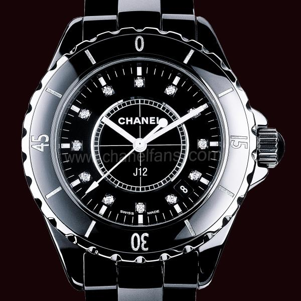 Chanel J12 Black Ceramic Ladies Watch H1625