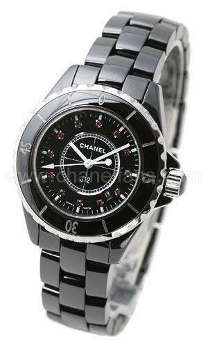 Chanel J12 Black Ceramic Ladies Watch H1634