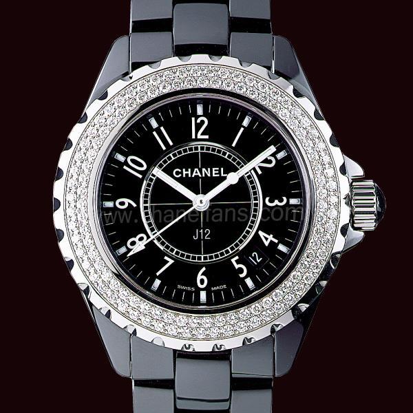 Chanel J12 Black Ceramic Ladies Watch H0949