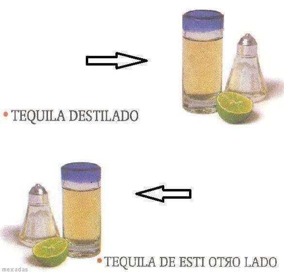Tequila destilado