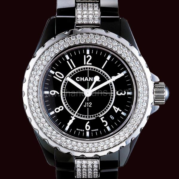 Chanel J12 Black Ceramic Ladies Watch H1338