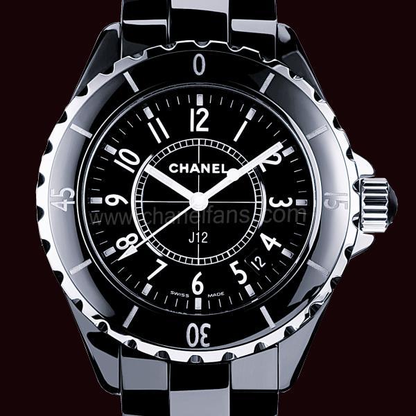 Chanel J12 Black Ceramic Ladies Watch H0682