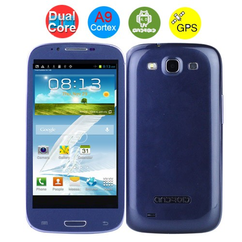 MTK6577 Cortex A9 Dual-Core 1.0GHz Android 4.1 1GB+4GB GPS Wi-Fi 8MP 5.3Inch QHD Capacitive